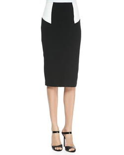 High-Waist Colorblock Pencil Skirt by Alice + Olivia in Supergirl