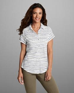 Short-Sleeve Slub Shirt by Eddie Bauer in Master of None
