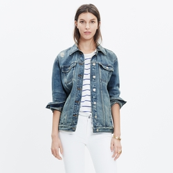 The Oversized Jean Jacket by Madewell in Pretty Little Liars