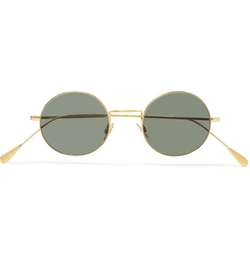 Round-Frame Gold-Tone Sunglasses by Cutler And Gross in Crimson Peak