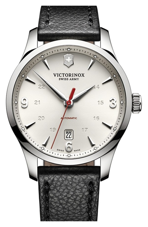 'Alliance' Round Leather Strap Watch by Victorinox in Suits - Season 5 Episode 8