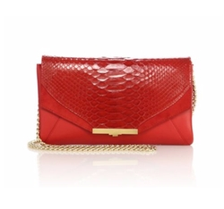Roya Leather & Python Envelope Clutch Bag by Khirma New York in Modern Family