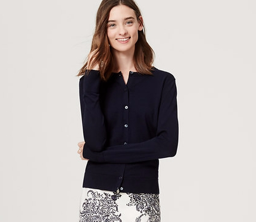 Signature Cotton Cardigan by Loft in The Boss