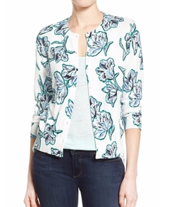 Floral Print Cardigan by Halogen in Pretty Little Liars