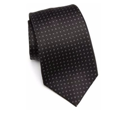 Dot Printed Silk Tie by Kiton in The Blacklist