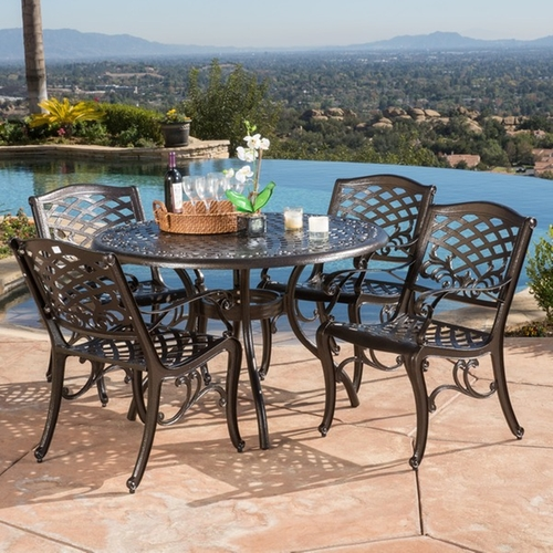 Hallandale Sarasota Outdoor Dining Set by Christopher Knight Home in Crazy, Stupid, Love.