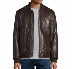 Hughes Leather Baseball Jacket by Andrew Marc in Shadowhunters