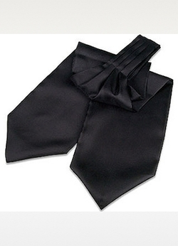 Solid Silk Ascot Tie by Forzieri in Victor Frankenstein