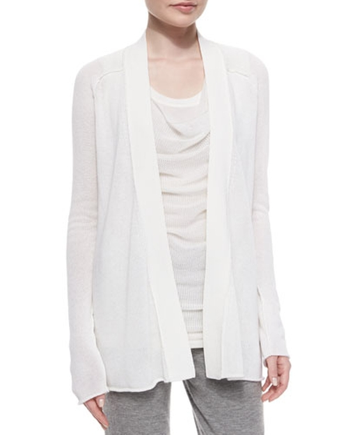 Textured Cashmere-Blend Cardigan by Donna Karan in Keeping Up With The Kardashians - Season 11 Episode 13