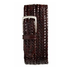 Enzo Braided Leather Belt by Trafalgar in The Good Place
