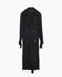 Long Flowing Trench Coat by Zara in Pretty Little Liars