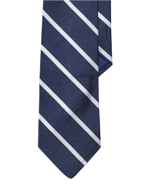 Striped Silk Repp Tie by Ralph Lauren in Suits
