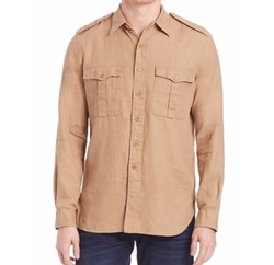 Solid Button-Down Shirt by Polo Ralph Lauren in Lethal Weapon