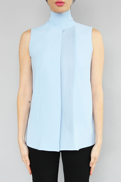 Lasercut Sleeveless Turtleneck Top by Vince in Chelsea - Season 1 Episode 1