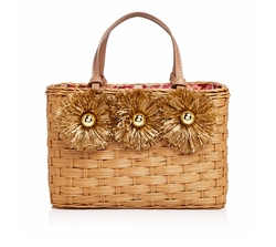 Edie Wicker Satchel Bag by Frances Valentine in New Girl