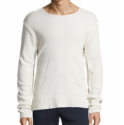 Raw-Edge Long-Sleeve T-Shirt by Vince in Power