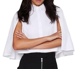 Women's Batwing Sleeve Poncho Shirt by Diffyou in XOXO