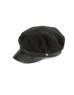 Faux Leather-Trimmed Cap by Genie By Eugenia in The Women
