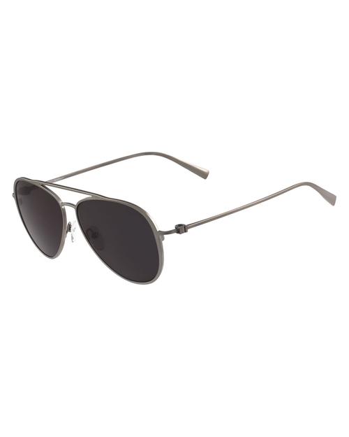 Titanium Aviator Sunglasses by Salvatore Ferragamo in Rosewood - Season 2 Episode 11