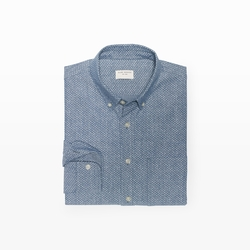 Slim-Fit Chambray Dot Shirt by Club Monaco in The Vampire Diaries