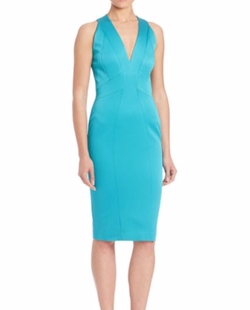 Sirena Sheath Dress by Zac Zac Posen in The Wolf of Wall Street
