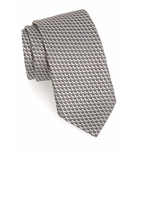 Geometric Silk Tie by Ermenegildo Zegna in Billions - Season 1 Episode 7