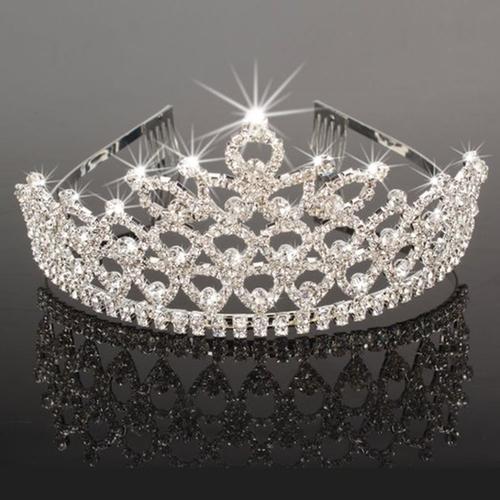 Charming Rhinestone Heart Flower Design Tiara Crown by Crazy K&A in Valentine's Day