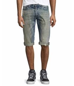 Distressed Denim Shorts by PRPS in Preacher