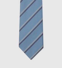 Striped Woven Silk Tie by Gucci in Suits