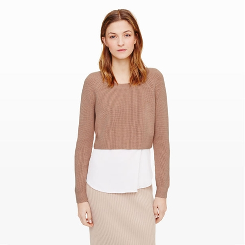 'Coryn' Sweater in Camel by Club Monaco in Supergirl - Season 1 Episode 1