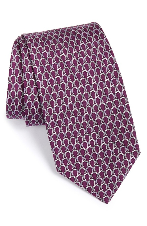 Horseshoe Print Silk Tie by Salvatore Ferragamo in Suits - Season 5 Episode 6