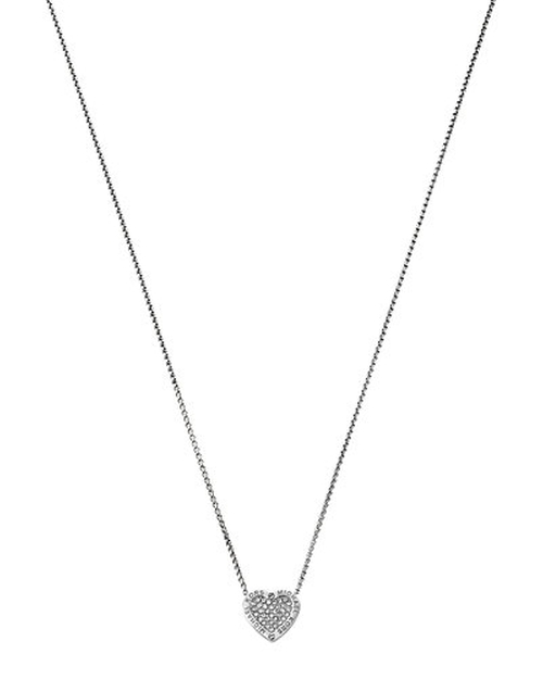 MK  Logo Heart Pendant Necklace by Michael Kors in Barbershop: The Next Cut