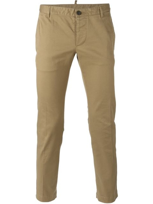Slim Chino Trousers by Dsquared2 in Knock Knock