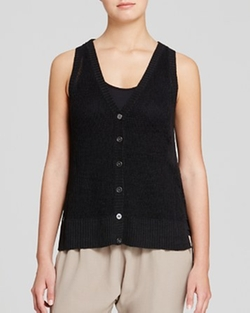 Open Knit Linen Vest by Eileen Fisher in The Big Bang Theory