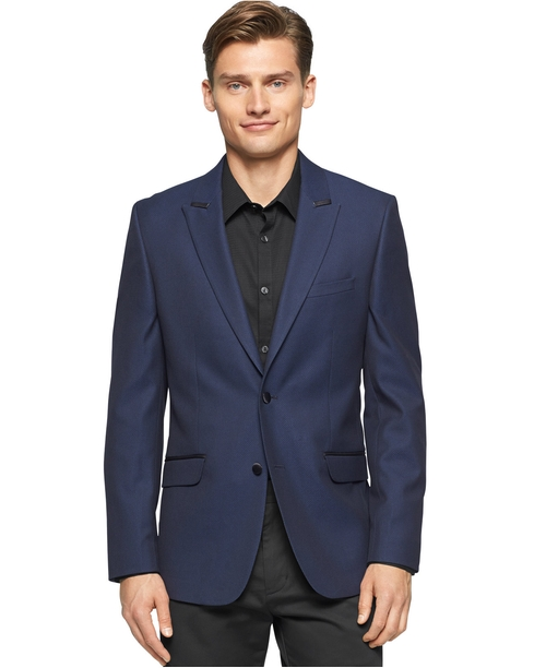 Jacquard Tuxedo Jacket by Calvin Klein in Elementary - Season 4 Episode 11