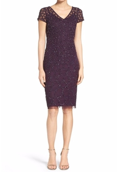Embellished Sheath Dress by Adrianna Papell in Fuller House