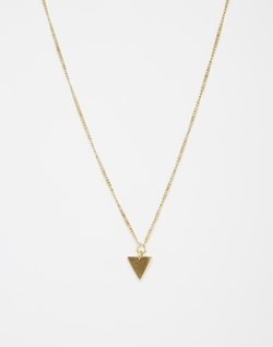 Triangle Pendant Necklace by Made in Modern Family