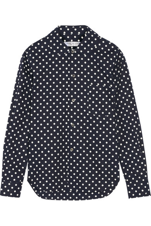 Polka-Dot Cotton-Poplin Shirt by Comme Des Garçons in Black-ish - Season 2 Episode 4