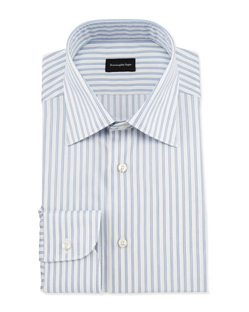 Wide Striped Woven Dress Shirt by Ermenegildo Zegna in The Blacklist