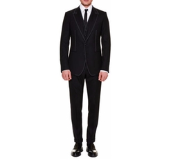 Contrast-Stitch Three-Piece Suit by Dolce & Gabbana in The Blacklist