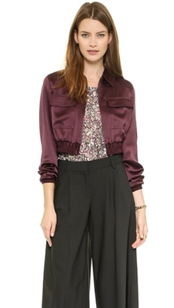 Seraphina Cropped Bomber Jacket by Club Monaco in Arrow