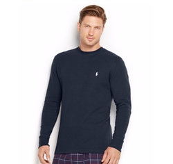 Waffle-Knit Crewneck Thermal Shirt by Polo Ralph Lauren in The Fate of the Furious