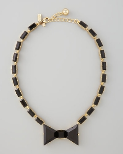 Crystal Bow Necklace by Kate Spade New York in Scream Queens