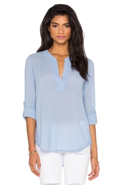 Gauze V Neck 3/4 Sleeve Top by Bobi in Modern Family