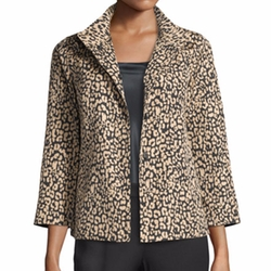 Vanna Leopard-Print Jacket by Lafayette 148 New York in The Fate of the Furious