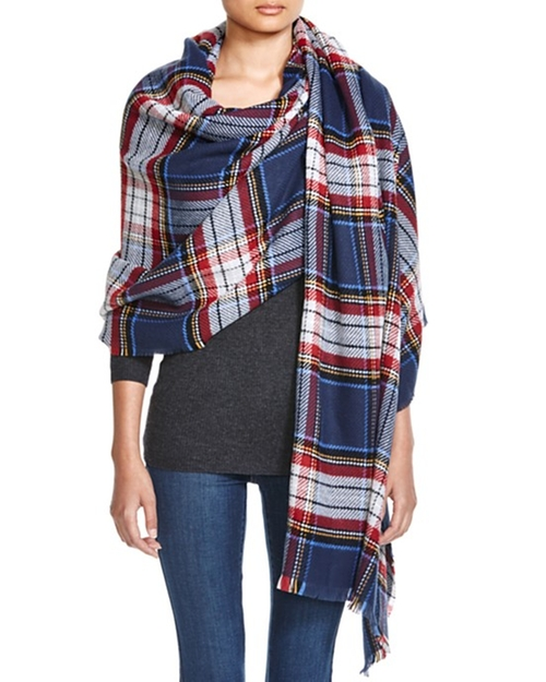 Plaid Scarf by Aqua in Modern Family - Season 7 Episode 9