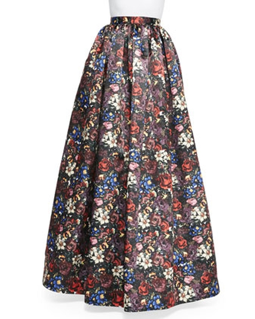 Tina Floral-Print Ball Skirt by Alice + Olivia in Pretty Little Liars - Season 6 Episode 9