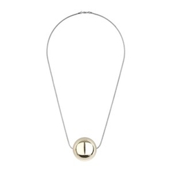Metal Ball Pendant Necklace by Topshop in Empire