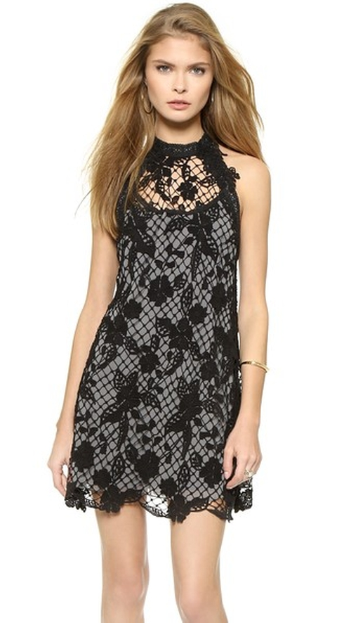 Snowdrop Lace Trapeze Dress by Free People in The Vampire Diaries - Season 7 Episode 2