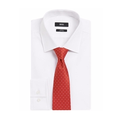 Dot Silk/Linen Tie by Hugo Boss in Hell or High Water
